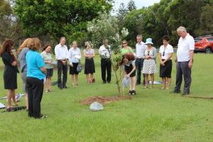 Planting a tree for Amalie