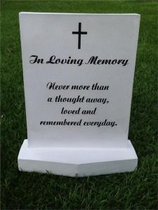 loving memory tombstone